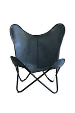 Marine Blue Chair Iron Stand With Leather Cover for Indoor Outdoor