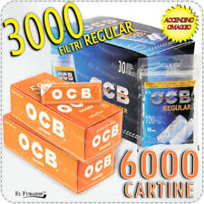 3000 Filtri OCB REGULAR 8mm + 6000 Cartine OCB ORANGE CORTE Arancioni