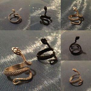 Schlangenring Schuppenring | schwarz oder silberfarben | größenverstellbar; neu