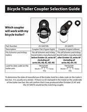 Coupler Attachments for Instep and Schwinn Bike Trailers, Flat Coupler for a of