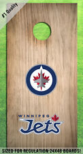 Winnipeg Jets Corn Hole Bag Toss High Quality Decals HD - Full Set