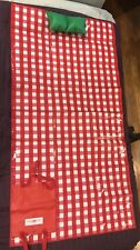 Bath and Body Works Beach Picnic Blanket Checkered Plaid Travel Fold Excellent