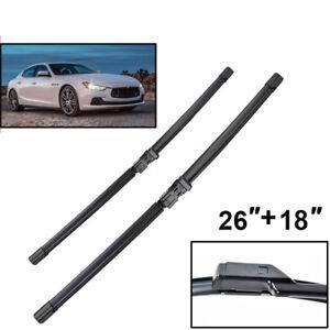 Fit For Maserati Ghibli Front Windshield Wiper Blade 2PCS M157 2013->