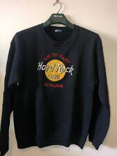 """More details for hard rock cafe jumper rare saving the world vintage reykjavik 44"""" chest unisex"""