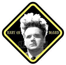 BaBY oN BoaRD! DAVID LYNCH ERASERHEAD MOVIE VINYL CAR WINDOW STICKER DARK HUMOUR