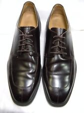 Rockport Men's 10 M Dress Oxfords Split Apron Toe black Leather #65 JS