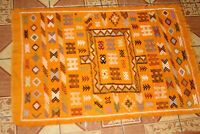 Authentic Hand-knotted Berber Kilim Rug