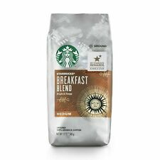 New fresh Starbucks Breakfast Blend Medium Roast Ground Coffee 12 Oz 10/03/20exp