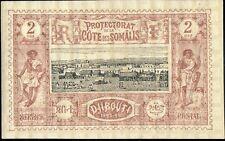 CÔTE FRANÇAISE DES SOMALIS - 1894 - Yv.7 / Mi.7 2c brun-lilas & noir - Neuf*