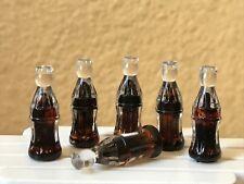 Miniature Dollhouse FAIRY GARDEN Accessories ~ 6 Cola Soda Bottles ~ NEW