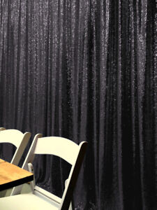 Sequin Backdrop 4FTx7FT Photo Wedding Party Curtain Christams Backdrops