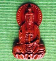 Japonés Madera Tallada a Mano Madera Madera Dura Articulo Budista Bhudda Oración