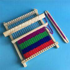 Wooden Weaving Loom Craft Yarn DIY Hand Knitting Machine Kids Educational Toy.