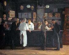 Irish Pub Beer Drinkers Bar Painting Real Canvas 8x10 Giclee Art Print