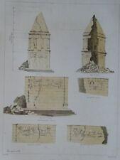 Hamoa el-Hermel - lithograph Bachelier - Kamouh el Hermel architecture - 1857