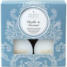 Shearer Candles Vanilla & Coconut Scented Tea Light Candle, 5 Hour, 50g, 8 Pack