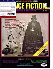 Dave Prowse Signed Science Fiction Magazine Psa #Ac32882 Darth Vader, Star Wars