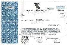 Visual Sciences Inc > 1973 New York old stock certificate share