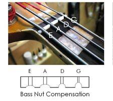 """GeetarGizmos 41mm 1 5/8"""" CURVED COMPENSATED BONE NUT for Fender PRECISION P Bass"""