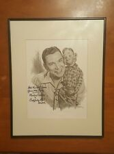 Signed and Autographed Howdy Doody Pencil Drawing By Glen Fortune Banse