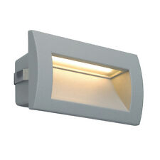 Intalite IP55 exterior Downunder Out LED M Lámpara de PARED EMPOTRADO PLATA