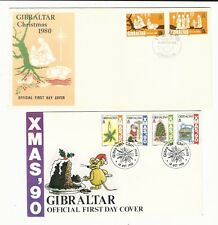 Gibraltar: Small lot of 4 diff. first day cover Christmas with rust...GI36