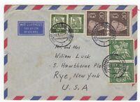 1961 Jun 16th. Air Mail Cover. Frankfurt to Rye, New York.