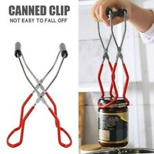 Anti-slip Canning Jar Lifter Tongs Stainless Steel Jar Lifter with Grip Handle $