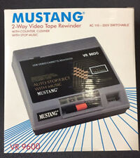 NEW MUSTANG VHS Video Cassette Tape Rewinder VCR Auto Stop Eject Fast CLEANER!
