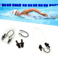 2/4 x Silicone Ear Plugs Nose Clip Set Cases Swimming Diving Pool Sea Adult Kids