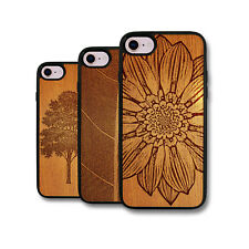 PIN-1 Art Wood Art Painting Design Deluxe Phone Case Cover Skin