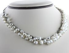 Silpada Sterling Silver Freshwater Pearl Dangle Cluster Cha ChaN1723 Necklace