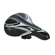 Black Bicycle Bike Cycle MTB Saddle Mountain Road Sporty Soft Plus Padded Seat