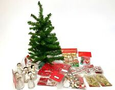 Small Christmas Tree & Decorations Over 60 pcs.