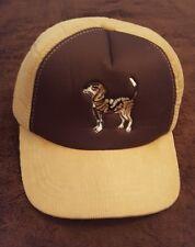 Vintage Winchester Hunting Cap Beagle Tan Brown Corduroy w/ flaps Rare L