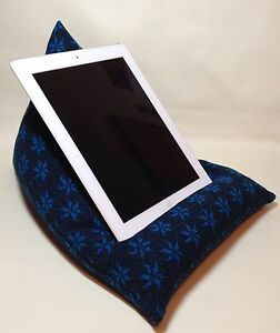 Handmade iPad/Kindle Beanbag. Humbug Shaped.