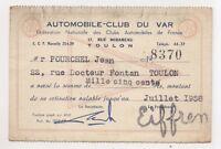 automobile club du var 1958 ,  (cl13)