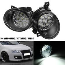 pair 9 LED Bright White Fog Light Lamp Left & Right For VW GOLF MK5 JETTA RABBIT