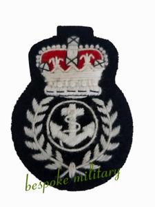 Badge Navy Wren Chief Petty Officer Cap Badge Kings Crown (White) Silk Threads