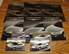 2001 Chrysler Sebring Deluxe Sales Brochures Postcards 10 Piece Lot 01 Coupe