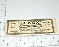 Lenox Band Saws American Springfield 1920s Advertising 1927 Vintage Print Ad