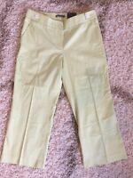 New NWT Ann Taylor Women's Capri Pants Hampton Fit Green Size 8