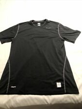 Nike Pro Fitted Compression Short Sleeve Shirt Men's Size Large Black