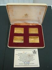 More details for passenger railways 1825-1975 .gold plated silver stamp replica ingots  sg984-987
