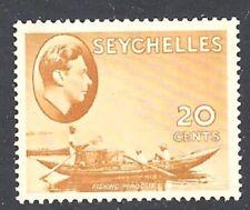Seychelles 1941 20c Brown-ocra menta a cerniera che mostra Fazzoletto - 94792