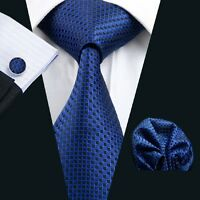 SN-881 Mens Silk High Quality Jacquard Woven Neckties Tie+Hanky+Cufflinks Sets