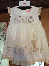 Girls 18-23 Months White Occasion Dress With Matching Headband And Knickers BNWT