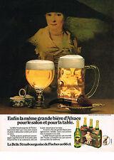 PUBLICITE  1977   FISCHER  bière Stasbourgeoise