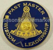Freemason Past Master Wisdom Leadership Car Emblem
