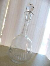 Superbe ancienne carafe carafon décanteur #4 verre soufflé Handmade 1900